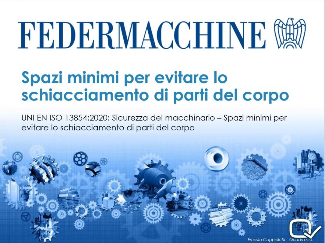 SICUREZZA MACCHINARIO FEDERMACCHINE 2020 QUADRA SRL