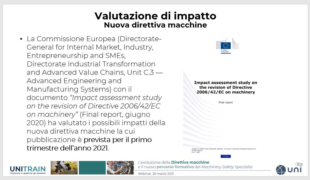 valutazione di impatto direttiva macchine 2022