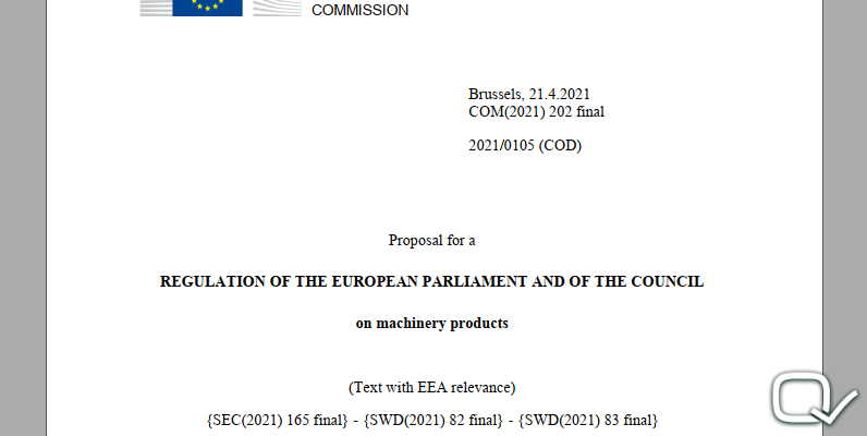 REGULATION OF THE EUROPEAN PARLIAMENT AND OF THE COUNCIL on machinery products